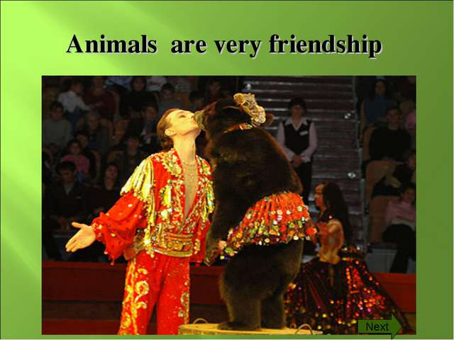 Animals are very friendship Next