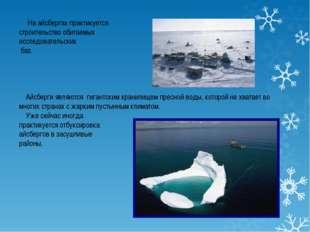 На айсбергах практикуется строительство обитаемых исследовательских баз. Айс