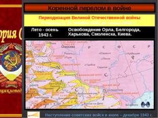 Коренной перелом в войне Наступление советских войск в июле – декабре 1943 г.