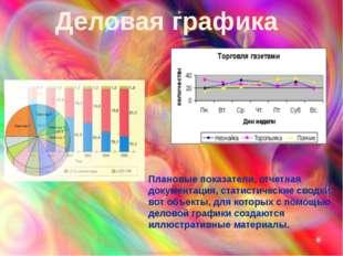 Плановые показатели, отчетная документация, статистические сводки - вот объек