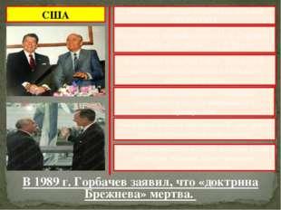 США Ежегодными стали встречи руководства СССР и США был налажен личный контак