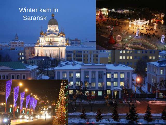 Winter kam in Saransk