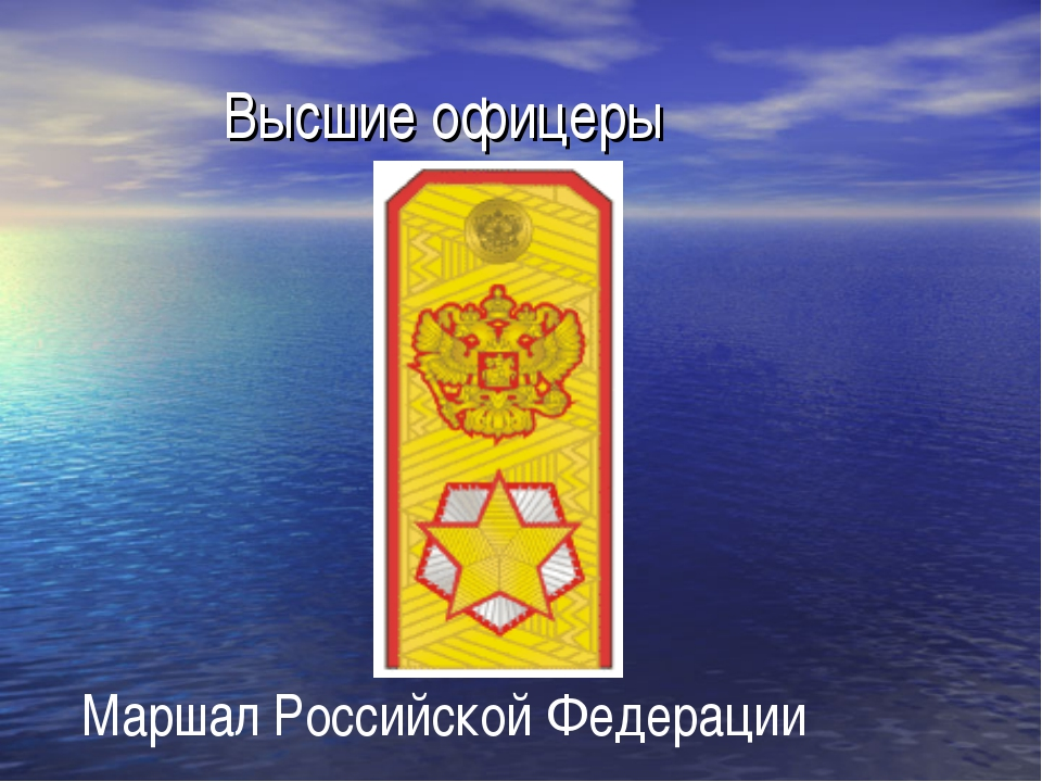 Высшие офицеры Маршал Российской Федерации