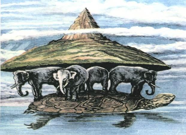 Изображение Земли на слонах и черепахе