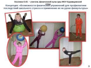 Концепция: «Возможности физических упражнений для профилактики последствий шк