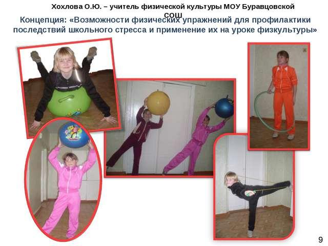 Концепция: «Возможности физических упражнений для профилактики последствий шк...