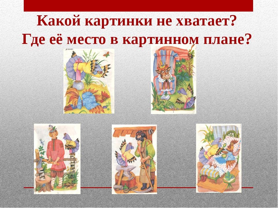 Какой картинки не хватает? Где её место в картинном плане?