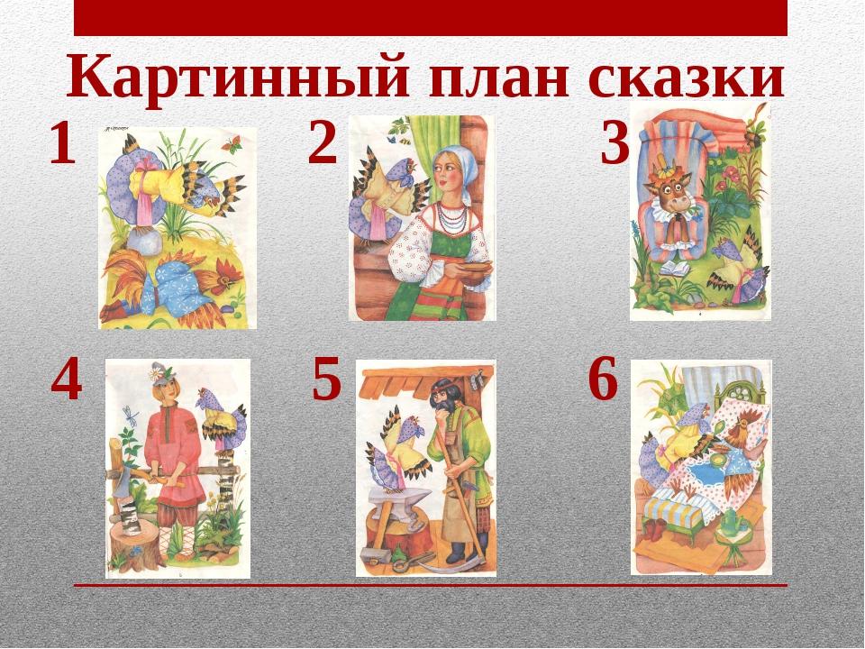 1 2 3 4 5 6 Картинный план сказки