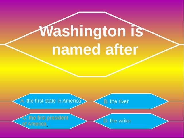 A. Washington The American Constitutions was written in B. Philadelphia C. N...
