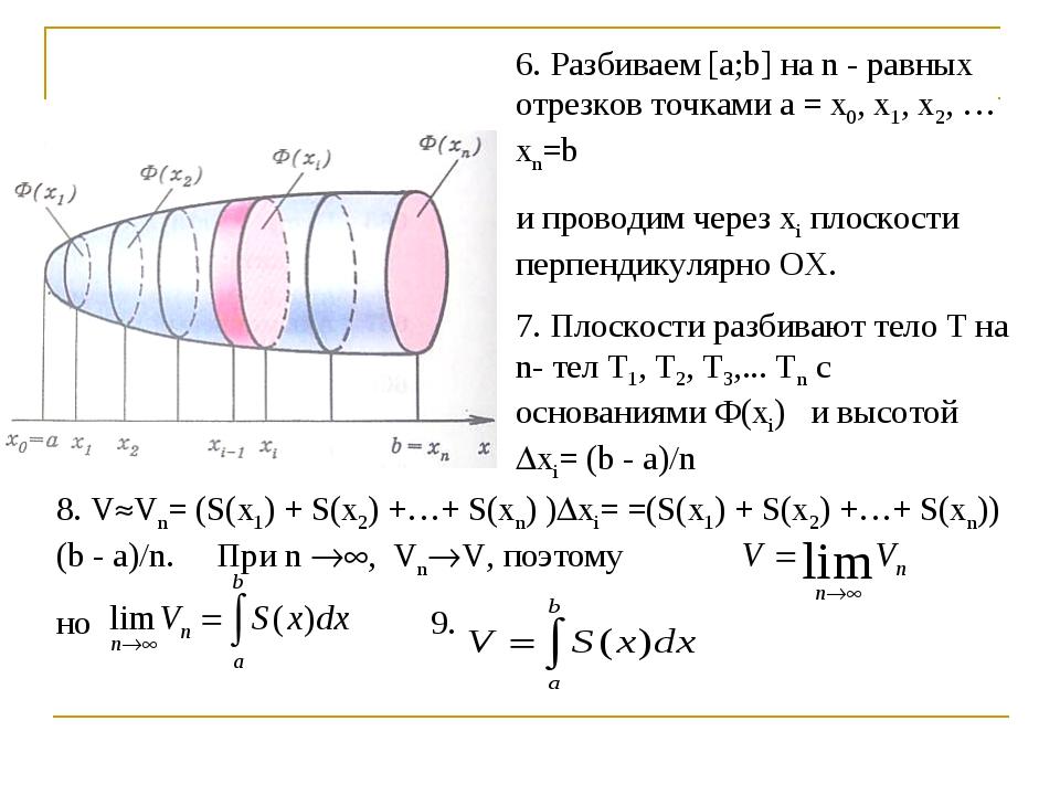 6. Разбиваем [a;b] на n - равных отрезков точками а = х0, х1, х2, …хn=b и про...