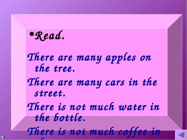 Read. There are many apples on the tree. There are many cars in the street. T...