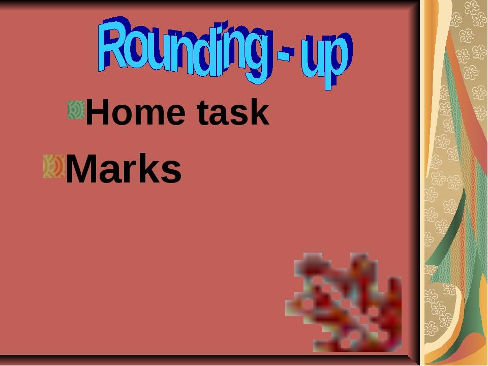 Home task Marks