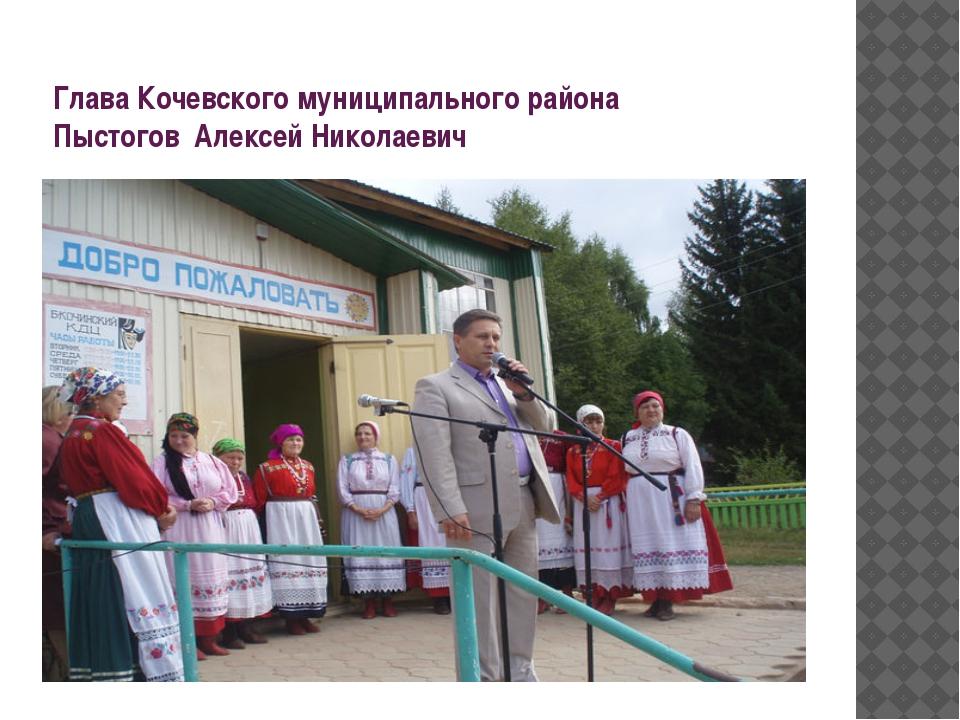 Глава Кочевского муниципального района Пыстогов Алексей Николаевич