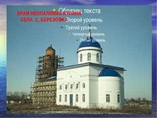 ХРАМ НЕОПАЛИМАЯ КУПИНА СЕЛА С. БЕРЕЗОВКА