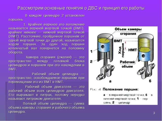 Рассмотрим основные понятия о ДВС и принцип его работы В каждом цилиндре 2 ус...