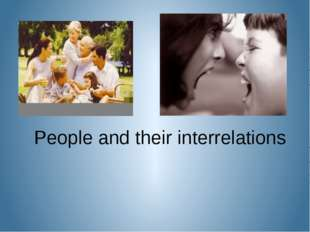 People and their interrelations