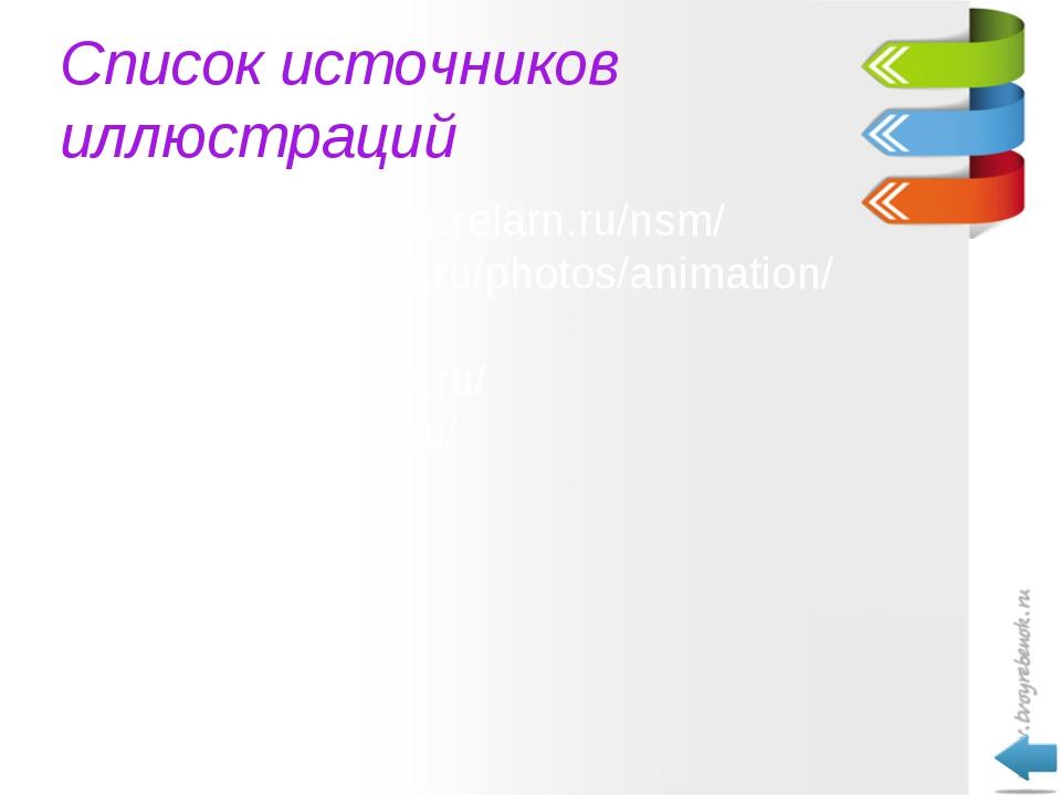 Список источников иллюстраций http://school-sector.relarn.ru/nsm/ http://live...
