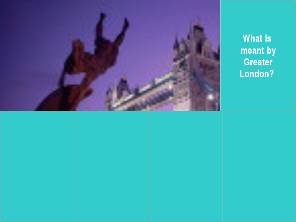 What is meant by Greater London?