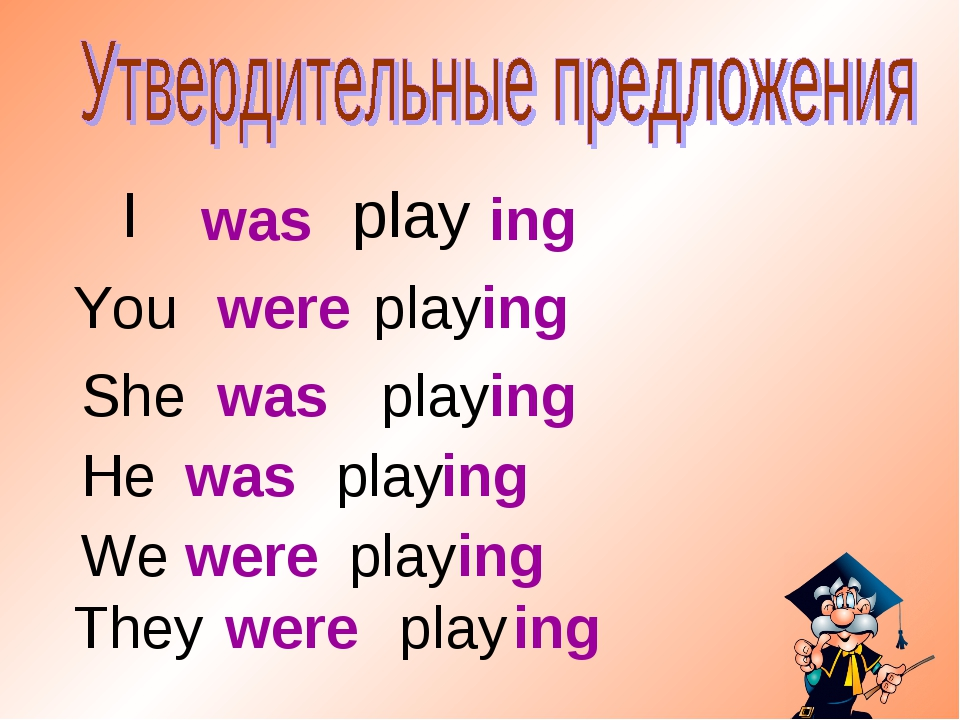 I play was ing You play were ing She play was ing He play They play We play w...