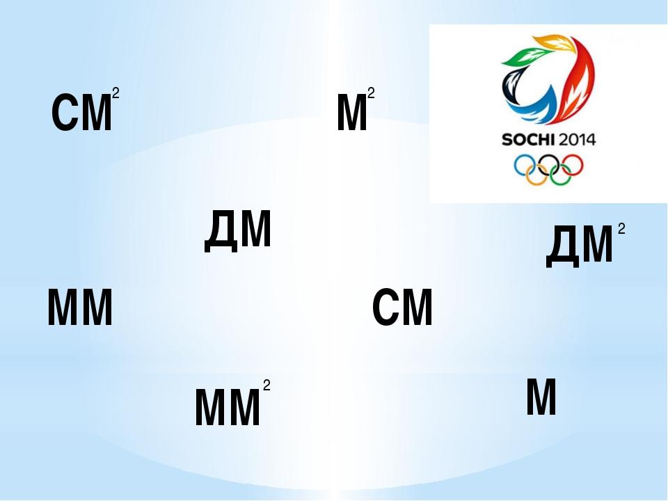 СМ СМ ММ М ДМ ММ М ДМ 2 2 2 2
