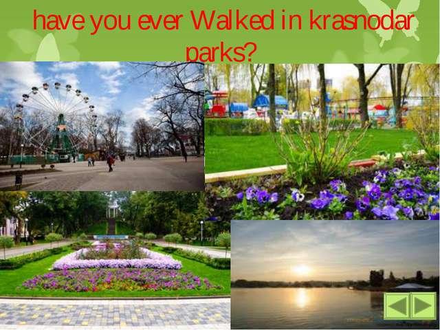 have you ever Walked in krasnodar parks? Parks play ground concerts a lot of...