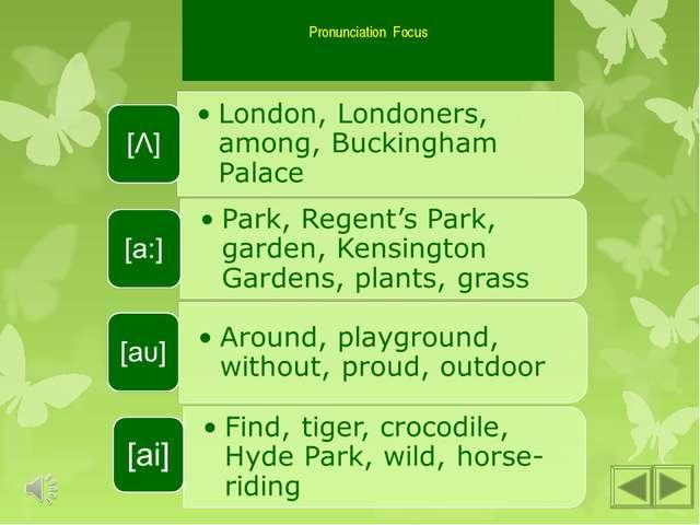 Pronunciation Focus