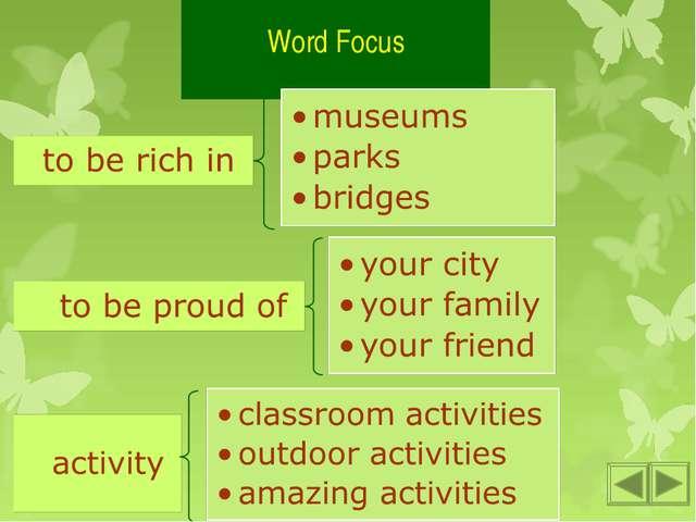 Word Focus