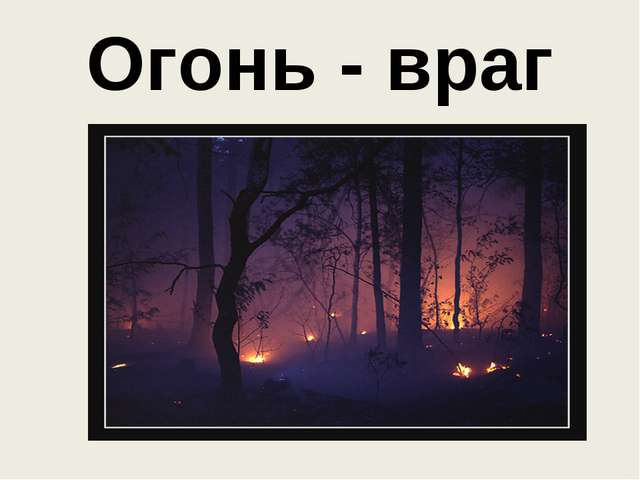 Огонь - враг