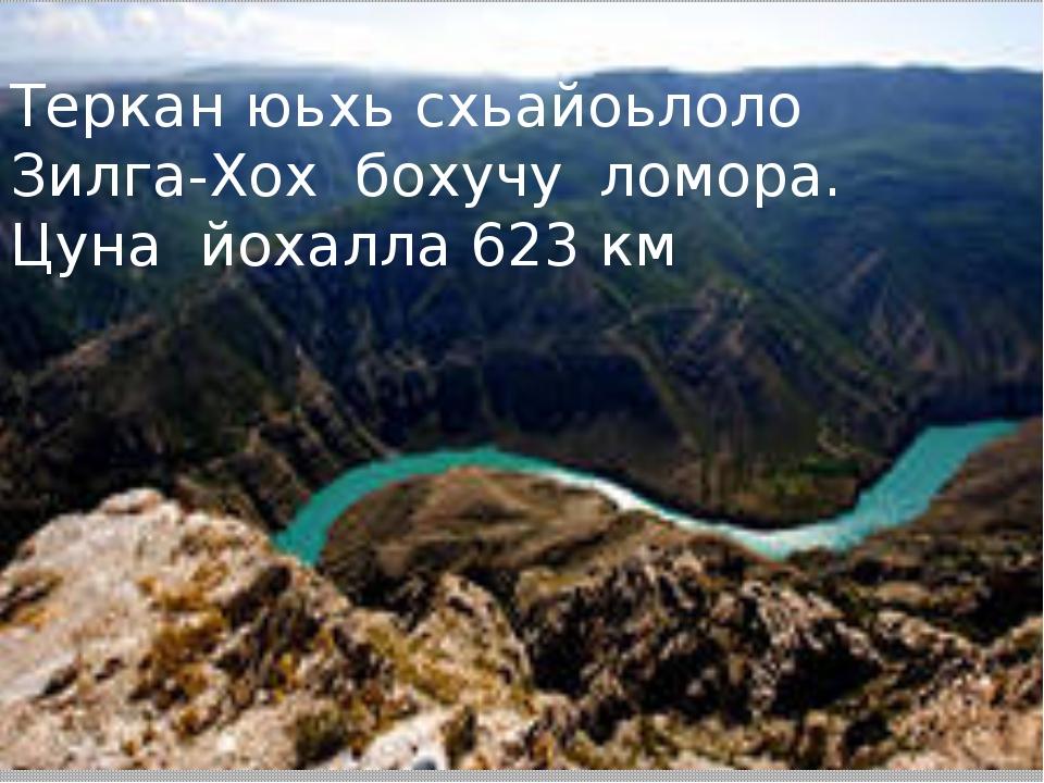 Теркан юьхь схьайоьлоло Зилга-Хох бохучу ломора. Цуна йохалла 623 км