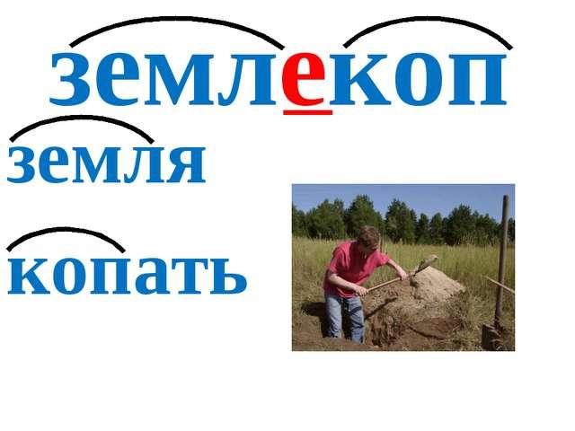 землекоп земля копать