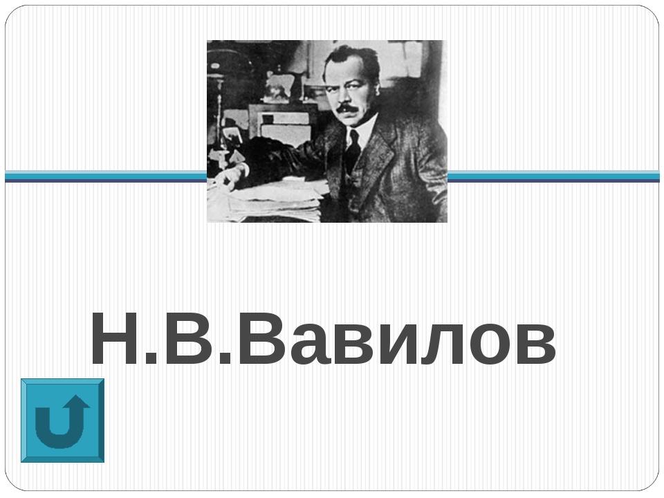 Н.В.Вавилов