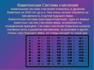 Вавилонская система счисления появилась в Древнем Вавилоне за 2000 лет до н.э