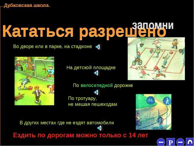 * Кататься разрешено Кататься разрешено запомни Дубковская школа