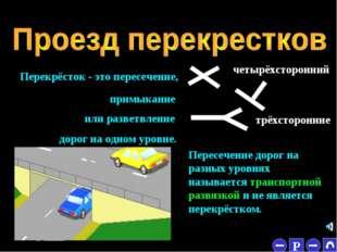 * Пересечение дорог на разных уровнях называется транспортной развязкой и не