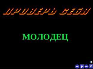 * МОЛОДЕЦ