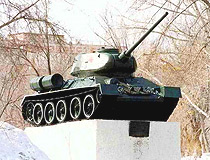 Pavlodar city T-34 tank monument