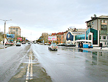 Pavlodar city street view