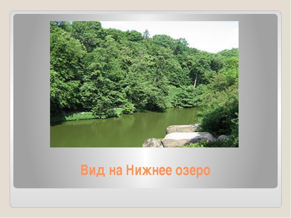 Вид на Нижнее озеро
