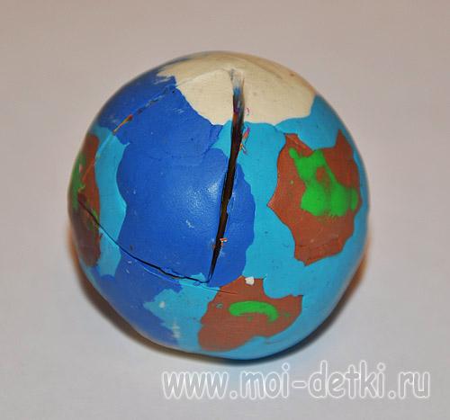Макет земли своими руками в разрезе