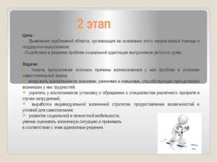 2 этап Цель: - Выявление проблемной области, организация на основании этого э