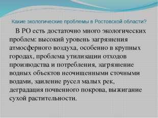 Какие экологические проблемы в Ростовской области? В РО есть достаточно много