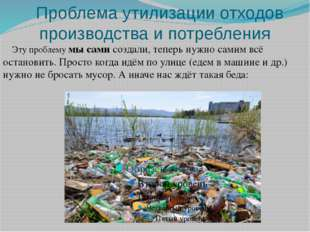 Проблема утилизации отходов производства и потребления Эту проблему мы сами