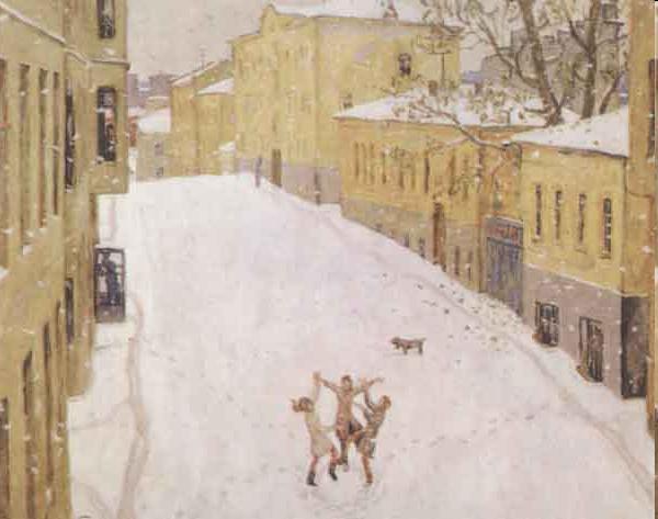 Сочинение по картине И. Попова Первый снег