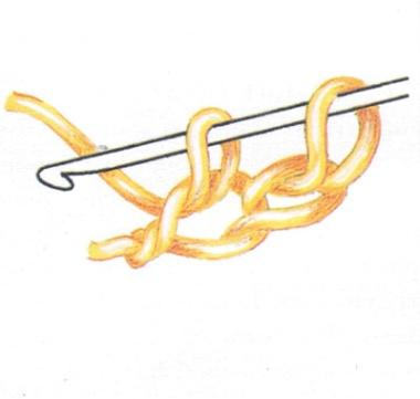 Двойная цепочка из воздушных петель (фото 3)