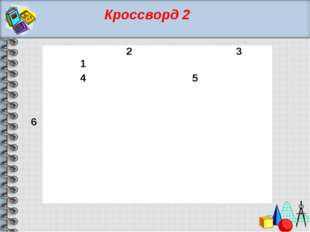 Кроссворд 2 1 2 3 4 5 6