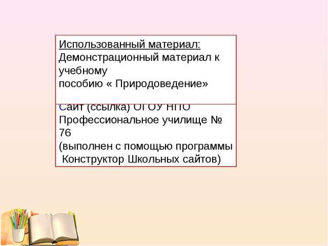 Презентация(программа power point) Cайт (ссылка) ОГОУ НПО Профессиональное уч...