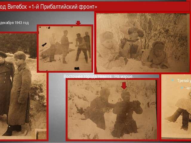 29 ноября - 13 декабря 1943 год город Невель. Выход под Витебск «1-й Прибалти...