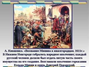 А. Кившенко. «Воззвание Минина к нижегородцам. 1611г.» В Нижнем Новгороде соб