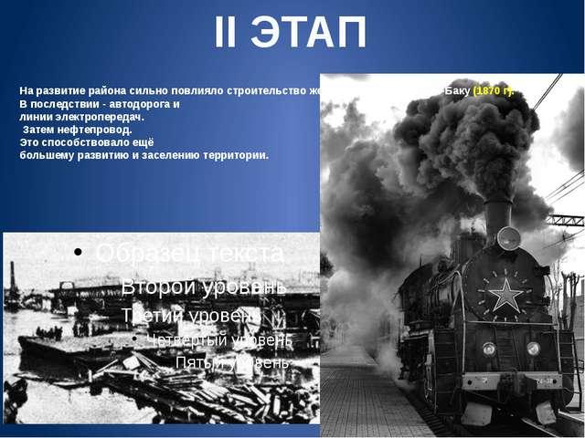 На развитие района сильно повлияло строительство железной дороги Ростов-Баку...