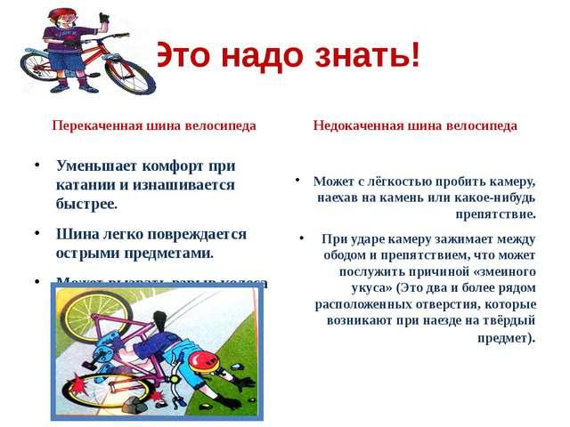 Это надо знать! Перекаченная шина велосипеда Уменьшает комфорт при катании и...